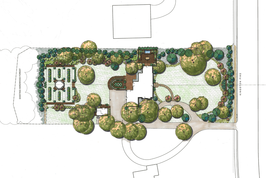 Master plans landscape architecture the penland studio for Award winning courtyard designs